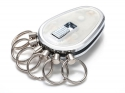 Key Organizer Chrom glänzend Transparent