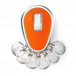 Key Organizer Chrom glänzend Orange